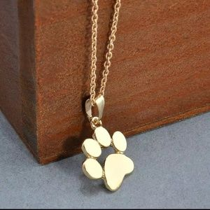 Jewelry - NWT! Dog or Cat Paw Pendant Necklace